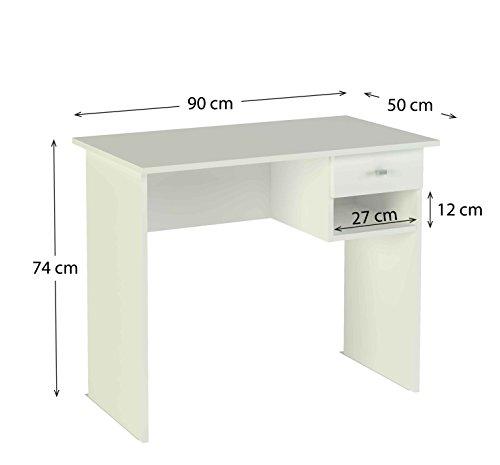 meka block k 9453b schreibtisch 1 schublade 90 cm breit farbe wei com forafrica. Black Bedroom Furniture Sets. Home Design Ideas