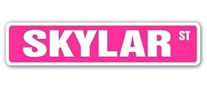 Amazon.com: SKYLAR Street Sign name kids childrens room ...