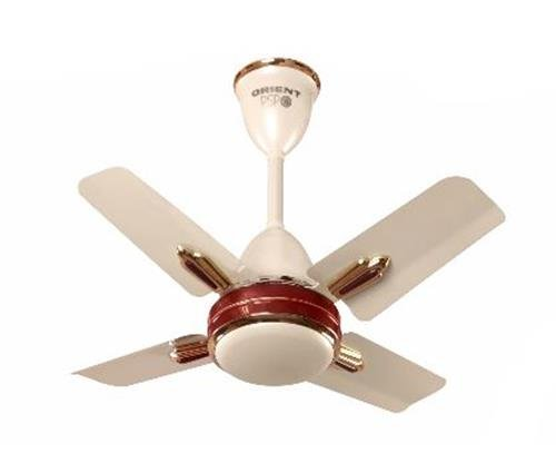 Orient Quasar Ornamental 600 mm 24-inch 70-Watt Premium Ceiling Fan (Metallic Ivory and Cherry)