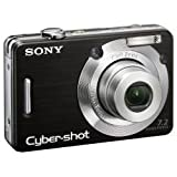 Sony Cyber-shot DSC-W55 Digital Camera - Black (7.2MP, 3x Optical Zoom) 2.5'' LCD
