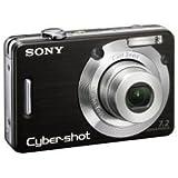 Sony Cyber-shot DSC-W55 Digital Camera - Black (7.2MP, 3x Optical Zoom) 2.5'' LCD