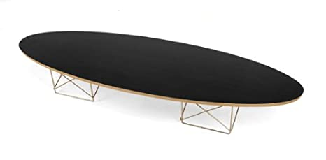 Elliptical Surfboard Coffee Table - Black