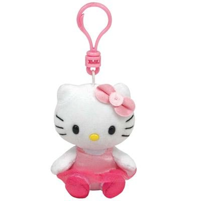 Ty Beanie Babies Hello Kitty Ballerina - Clip On Plush