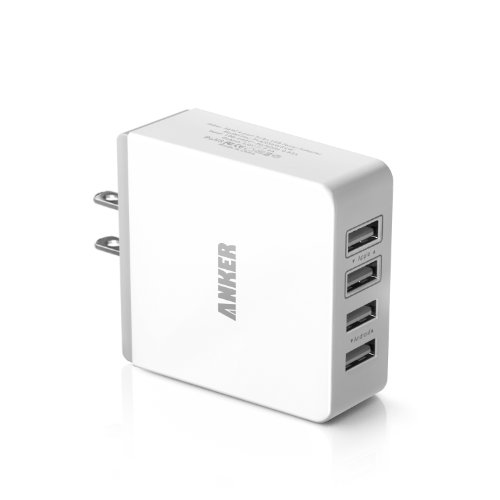 Anker® 36W/7.2A Quad-Port Compact USB Wall Charger
