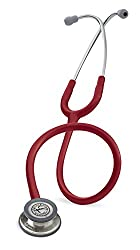 3M Littmann 27-inch 5627�Classic III Stethoscope, Stainless-Steel-Finish Chestpiece (Burgundy Tube)