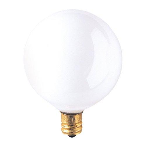 25 Pack 25 Watt Candelabra Base 120 Volt 2500 Hour White Globe Lightbulb