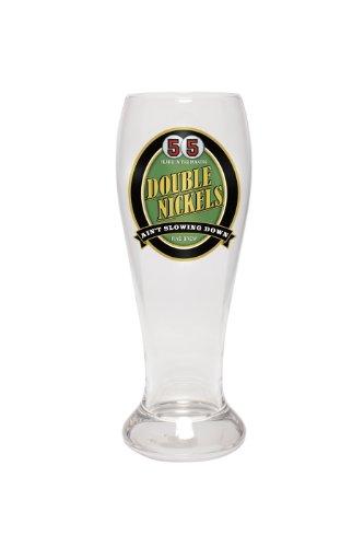 Santa Barbara Design Studio Brew Crew, 22-Ounce Beer And Drink Glass, 55 Double Nickels