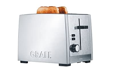 Graef Matt Brushed 2 Slot Stainless Steel Toaster from GRAEF