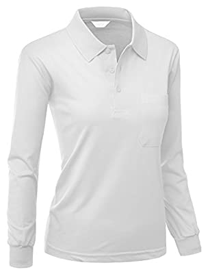 Xpril Women's Pique 180-200 TC Polo Dri Fit Collar T-Shirts