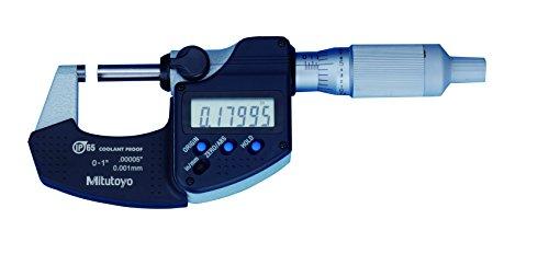 "Mitutoyo 293-349-30 Digital Micrometer, 0 to 1""/25.4mm Measuring"