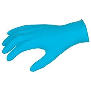 MCR Safety C6020L Nitrishield Disposable Nitrile Glove, 4 Mil., Powered, 100 Box, Large