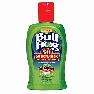 Bullfrog Sunblock Superblock Formula Spf 50, Waterproof, 5-Ounce Bottle (Pack of 2)