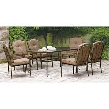 Mainstays Brookwood Landing 7-piece Patio Dining Set, Brown, Seats 6