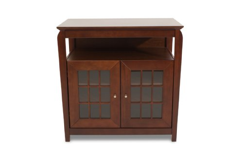 TechCraft BAY3232 32-Inch Wide Hi-Boy Flat Panel TV Credenza - Walnut