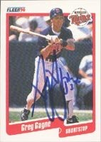 Greg Gagne Minnesota Twins 1990 Fleer Autographed Hand Signed Trading Card. by Hall+of+Fame+Memorabilia