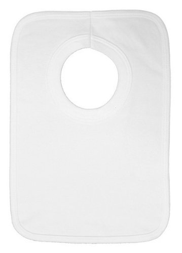 White Baby Bib front-1055597