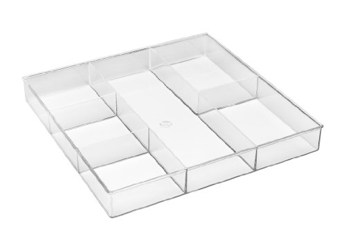 Whitmor 6789-3065 6-Section Clear Drawer Organizer (Drawer Organizer Clear compare prices)