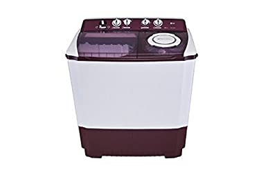 LG P1515R3S Semi-automatic Washing Machine (9.5 Kg, Burgundy)