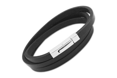 unique-men-b36bl-63cm-bracelet-homme-trois-tours-cuir-noir-acier-inoxydable