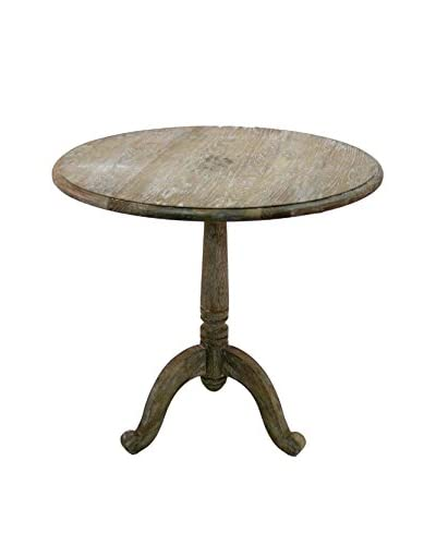 Zentique Monroe Round Table, Limed Grey