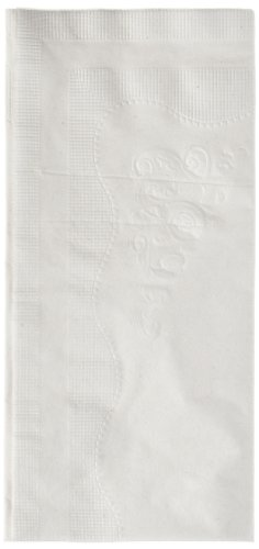 """Georgia-Pacific Preference 31436 White 2-Ply 1/8 Fold Paper Dinner Napkin, 15"""" Length x 16"""" Width (Case of 30 Poly Packs, 100 Per Pack)"""