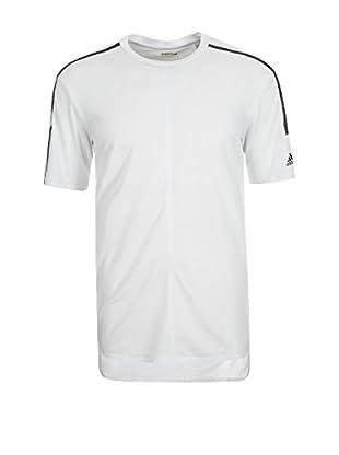 adidas Camiseta Manga Corta Standard 19 ClimaCool Aeroknit (Blanco / Negro)