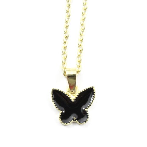 Zehui Fashion Black Korean Style Lovely Cute Butterfly Alloy Necklace