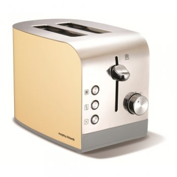 Apr12 Accents Cream Stainless Stl 2 Slice Toaster from Morphy Richards