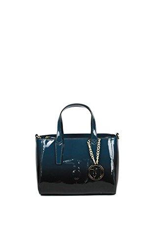 TRUSSARDI JEANS - Borsa donna - Ischia tote lucido 75B578 (blu)