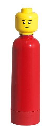 LEGO - Botella, 400 ml, color rojo (40401730)