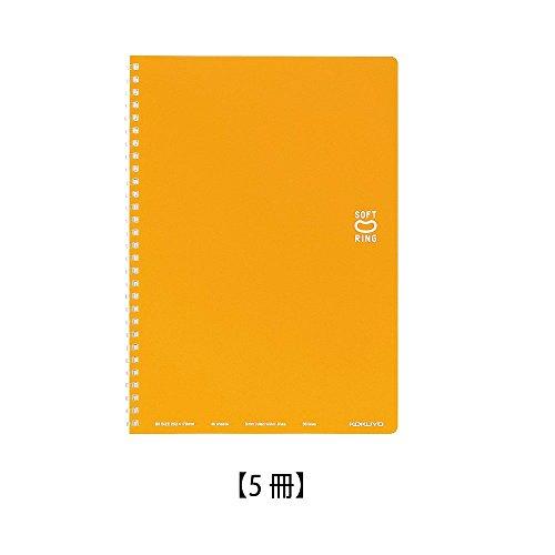 コクヨ ソフトリング ノート ドット入り罫線 セミB5 オレンジ ス-SV301BT-YR【5冊】