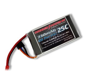 Thunder Power RC 730mAh 3-Cell/3S 11.1V G6 Pro Lite 25C LiPo Battery with JST Connector