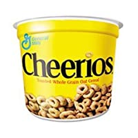 - Cheerios Breakfast Cereal, Single-Serve 1.3oz Cup, 6/Pack