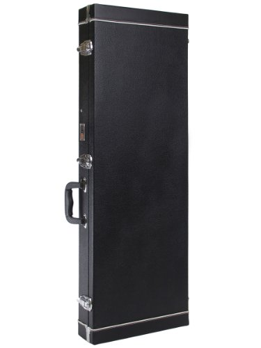 Gearlux Bc220 Hardshell Rectangular Bass Guitar Case With Plush Interior And Accessory Compartment - Black
