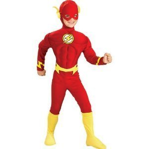 Child Deluxe Muscle Chest Flash Costume, Medium (Size 8-10) (Ages 5-7)