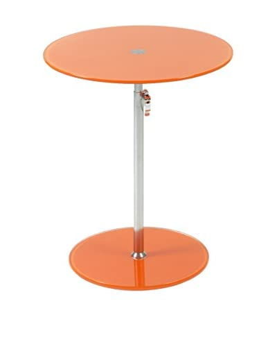 Eurostyle Radinka Round Glass Table, Orange