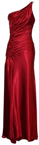 One Shoulder Satin Goddess Formal Gown Prom Dress