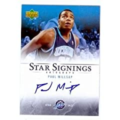 Paul Millsap Autographed Hand Signed Basketball Card (Utah Jazz) 2007 Upper Deck... by Hall of Fame Memorabilia