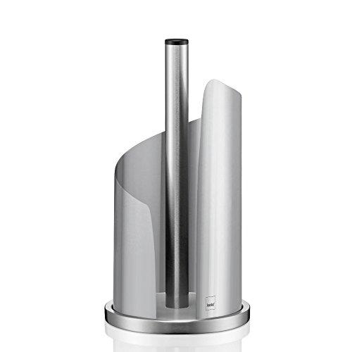Kela Porte essuie-tout, diamètre 15cm, acier inoxydable/métal, brillant, Stella acier inoxydable