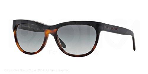 Burberry Be4176 Sunglass-346211 Top Black/ Havana (Gray Grad Lens)-56Mm