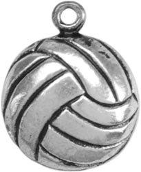 Bulk Buy: Darice Metal Charms Volleyball 12/Pkg TS1-43 (3-Pack)