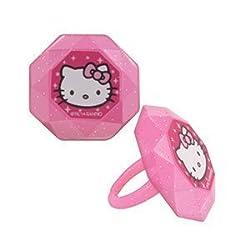 Hello Kitty Cupcake Rings - 24 pc