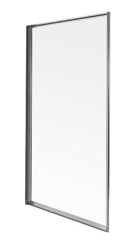 Aqualux FS6265AQU - Parete per vasca da bagno con cornice, 750 mm, colore: Grigio perla/Trasparente