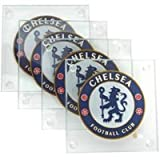 Chelsea Set Of 4 Square Glass Coasters Gift Boxed Officially Licensed