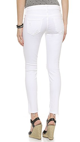 MOTHER Women's Looker Ankle Fray Jeans, Little Miss Innocent?, 28