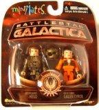 Battlestar Galactica Modern Minimates 2-Pack Series 3 Helo & Chief Tyrol