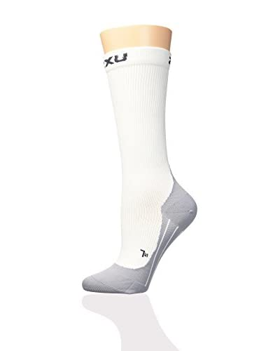 2XU Calcetines Deportivos Compression Race Blanco