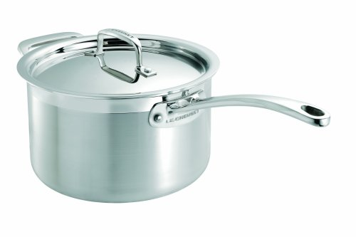 Le Creuset 3-Ply Stainless Steel Saucepan with Lid, 20 cm