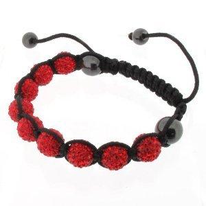 Shamballa Bracelet Red Disco Ball Friendship Bead Unisex Bracelets Swarovski Crystal Beads