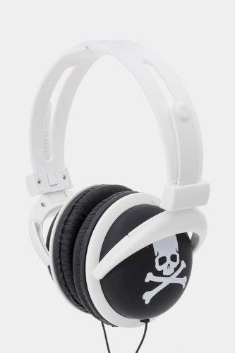 Trendy Fashion Printed Skull Headphone By Fashion Destination | (White)
